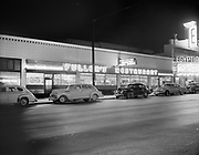 """ackroyd_04239-9. """"Fullers Restaurant. March 26, 1953"""" (night exterior 2427 NE Union next to the Egyptian Theatre)"""