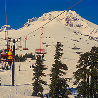 Timberline ski area on Mount Hood in Oregon.