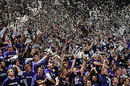 Jan 30, 2008; Manhattan, KS, USA; Kansas State Wildcat fans celebrate as the Wildcats are introduced before the game with the Kansas Jayhawks at Bramlage Coliseum in Manhattan, KS. Kansas State upset the 2nd ranked Kansas Jayhawks 84-75. Mandatory Credit: Peter G. Aiken-US PRESSWIRE