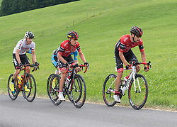 04.06.2017, St.Pölten, AUT, Rad Bundesliga, Österreich, GP Niederösterreich / St. Pölten, im Bild v.l. Sebastian Schönberger (AUT, Tirol Cycling Team), Hermann Pernsteiner (AUT, Team Amplatz - BMC), Matej Mugerli (SLO, Team Amplatz - BMC) // during Rad Bundesliga, Austria, GP Niederösterreich / St. Pölten, Austria on 2017/06/04. EXPA Pictures © 2017, PhotoCredit: EXPA/ Reinhard Eisenbauer