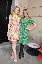 Left to right, AMBER ATHERTON and GRETA BELLAMACINA at the NatWest UK Fashion & Textile Awards in aid of Save The Children held at 1 Mayfair, London on 23rd May 2013.