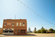 Closed store fronts, Joplin, Montana.