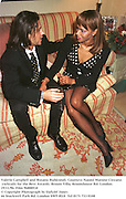 Valerie Campbell and Rosano Rubicondi. Countess Naomi Marone Cinzano cocktails for the Best Awards. Broom Villa, Broomhouse Rd. London.19/11/96. Film 96800f18<br />© Copyright Photograph by Dafydd Jones<br />66 Stockwell Park Rd. London SW9 0DA<br />Tel 0171 733 0108
