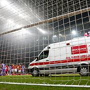 Galatasaray's and Orduspor's during their Turkish Superleague soccer match Galatasaray between Orduspor at the AliSamiyen Spor Kompleksi TT arena in Istanbul Turkey on Monday 25 February 2013. Photo by Aykut AKICI/TURKPIX