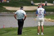 Paul McGinley lines up his second shot on the 16th hole in the Open de Espana in Madrid..Photo NEWSFILE/Eoin Clarke.(Photo credit should read Eoin Clarke/NEWSFILE)....This Picture has been sent you under the condtions enclosed by:.Newsfile Ltd..The Studio,.Millmount Abbey,.Drogheda,.Co Meath..Ireland..Tel: +353(0)41-9871240.Fax: +353(0)41-9871260.GSM: +353(0)86-2500958.email: pictures@newsfile.ie.www.newsfile.ie.FTP: 193.120.102.198..