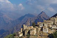 Yemen, le Djebel Haraz, village de Manakha. // Yemen, Djebel Haraz, Manakha village.