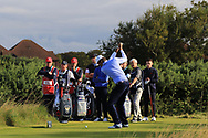 Stewart Hagestad (USA) on the 6th tee during Day 2 Foursomes of the Walker Cup, Royal Liverpool Golf CLub, Hoylake, Cheshire, England. 08/09/2019.<br /> Picture Thos Caffrey / Golffile.ie<br /> <br /> All photo usage must carry mandatory copyright credit (© Golffile   Thos Caffrey)