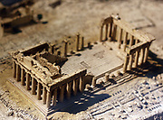 Model of the Acropolis ruins in Athens, Greece made circa 1960 at the University of Birmingham