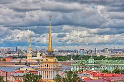 Admiralty building, Peter and Paul Fortress, Winter Palace, Saint Petersburg, Russia, St Petersburg