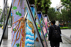 October 4, 2017 - Chongqing, Chongqing, China - Chongqing,CHINA-3rd October 2017: (EDITORIAL USE ONLY. CHINA OUT)..Various painting can be seen on the trunk of trees in southwest China's Chongqing. (Credit Image: © SIPA Asia via ZUMA Wire)