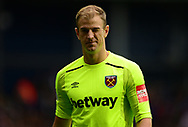Joe Hart , the goalkeeper of West Ham United gives a 'wink' to the camera. Premier league match, West Bromwich Albion v West Ham United at the Hawthorns stadium in West Bromwich, Midlands on Saturday 16th September 2017. pic by Bradley Collyer, Andrew Orchard sports photography.