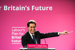 Ed Miliband MP, leader of the Labour Party, addesses an audience of students at Sheffield Hallam University 2015