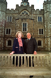 """PA NEWS PHOTO 2/6/98  RAINE SPENCER, STEP MOTHER OF DIANA, PRINCESS OF WALES AND """"HARROD'S"""" OWNER MOHAMMED AL FAYED AT KNOWLE HOUSE IN SEVENOAKS TO GIVE AN INTERVIEW FOR THE LONDON TONIGHT TELEVISION PROGRAMME"""
