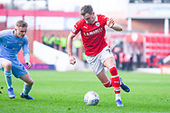 Ryan Hedges of Barnsley (7) in action during the EFL Sky Bet League 1 match between Barnsley and Coventry City at Oakwell, Barnsley, England on 30 March 2019.