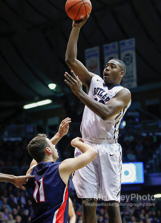 INDIANAPOLIS, IN - DECEMBER 28: Kelan Martin #30 of the Butler Bulldogs shoots the ball against the Belmont Bruins at Hinkle Fieldhouse on December 28, 2014 in Indianapolis, Indiana. (Photo by Michael Hickey/Getty Images) *** Local Caption *** Kelan Martin