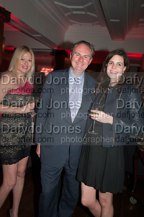 KYARA DEKKER; WILLIAM CASH; LAURA CATHCART, Rocco Forte's Brown's Hotel Hosts 175th Anniversary Party, Browns Hotel. Albermarle St. London. 16 May 2013