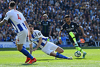 BRIGHTON, ENGLAND - MAY 12:  Riyad Mahrez (26) of Manchester City on the attack during the Premier League match between Brighton & Hove Albion and Manchester City at American Express Community Stadium on May 12, 2019 in Brighton, United Kingdom. (MB Media)