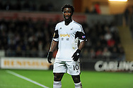 Wilfried Bony of Swansea city.UEFA Europa league match, Swansea city v Valencia at the Liberty Stadium in Swansea on Thursday 28th November 2013. pic by Andrew Orchard, Andrew Orchard sports photography,
