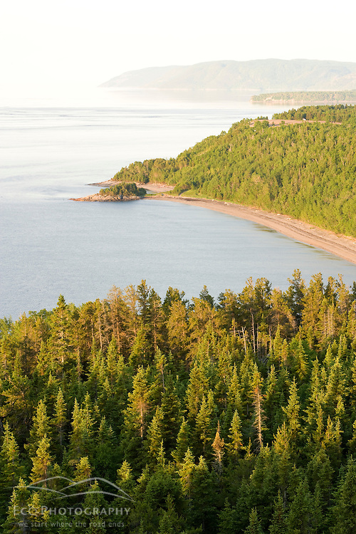 The confluence of the Saguenay and St. Lawrence rivers in the Parc du Saguenay in Tadoussac.