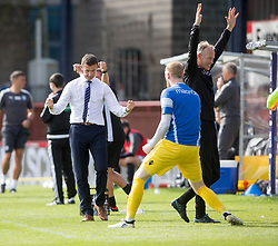 Ross County's manager Jim McIntrye after Christopher Routis scoring their second goal. Dundee 1 v 2 Ross County, Scottish Premiership game played 5/8/2017 at Dundee's home ground Dens Park.