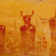 Lifesize figures in Sego Canyon near the town of Thompson Springs, Utah.