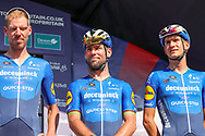 Mark Cavendish of Team Deceuninck-Quick-Step ahead of the Tour of Britain, second stage between Sherford and Exeter in Devon, Sherford to Exeter, United Kingdom on 6 September 2021.