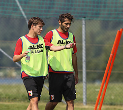 15.07.2013, Walchsee, AUT, FC Augsburg, Trainingslager, im Bild Paul VERHAEGH (FC Augsburg #2) im Gespraech mit Halil ALTINTOP (FC Augsburg #7, re.), // during a trainings session of German 1st Bundesliga club FC Augsburg at their training camp in Walchsee, Austria on 2013/07/15. EXPA Pictures © 2013, PhotoCredit: EXPA/ Eibner/ Klaus Rainer Krieger<br /> <br /> ***** ATTENTION - OUT OF GER *****