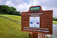 22-10-2018 Almenara Golf Club in Sotogrande, Cádiz, ontworpen door Dave Thomas.<br /> ALMENARA: duidelijke informatieborden