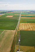 Nederland, Noord-Holland, Wieringermeer, 14-07-2008; windmolenpark in de Wieringermeerpolder, gezien in zuidelijke richting naar het IJsselmeer. .luchtfoto (toeslag); aerial photo (additional fee required); .foto Siebe Swart / photo Siebe Swart