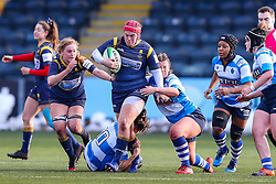 Carys Phillips, returning to the Worcester Warriors Women side after injury, tries to break through the DMP Durham Sharks defence - Mandatory by-line: Nick Browning/JMP - 09/01/2021 - RUGBY - Sixways Stadium - Worcester, England - Worcester Warriors Women v DMP Durham Sharks - Allianz Premier 15s
