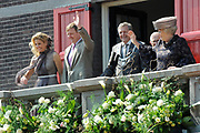 Koninginnedag 2011 in de Limburgse plaats Weert // Queen's Day 2011 in the southern of Holland ( Limburg). The Royal family is visiting the city of Weert.<br /> <br /> Op de foto / On the photo:  Koningin Beatrix / Queen Beatrix and Princes Maxima and Prince Willem Alexander