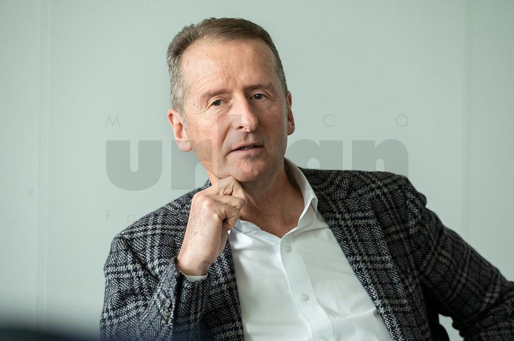 30 MAR 2020, WOLFSBURG/GERMANY:<br /> Herbert Diess, Vorstandsvorsitzender Volkswagen AG, waehrend einem Interview, VW Konzernzentrale<br /> IMAGE: 20200330-01-001