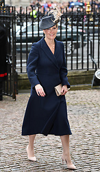 Members of The Royal Family attend the Commonwealth Day Observance Service at Westminster Abbey, London, UK, on the 12th March 2018. 12 Mar 2018 Pictured: Sophie, Countess of Wessex. Photo credit: James Whatling / MEGA TheMegaAgency.com +1 888 505 6342