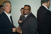 WARREN MIRO AND ISAAC JULIEN, Dinner hosted by the Victoria Miro Gallery Serpentine after the opening of the Derek Jarman exhibition curated by isaac Julien. February 2008.  *** Local Caption *** -DO NOT ARCHIVE-© Copyright Photograph by Dafydd Jones. 248 Clapham Rd. London SW9 0PZ. Tel 0207 820 0771. www.dafjones.com.