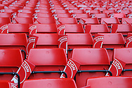 General stadium view inside The Valley stadium showing seating before the EFL Sky Bet League 1 second leg Play-Off match between Charlton Athletic and Doncaster Rovers at The Valley, London, England on 17 May 2019.