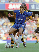 Hernan Crespo (Chelsea's new signing) after coming on to make his debut as a substitute. Chelsea v Blackburn Rovers. 30/8/03. Credit : Colorsport/Andrew Cowie.