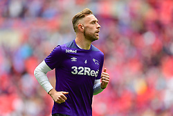 May 27, 2019 - London, England, United Kingdom - Richard Keogh (6) of Derby County warms up during the Sky Bet Championship match between Aston Villa and Derby County at Wembley Stadium, London on Monday 27th May 2019. (Credit: Jon Hobley | MI News) (Credit Image: © Mi News/NurPhoto via ZUMA Press)