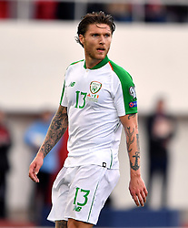Republic of Ireland's Jeff Hendrick during the UEFA Euro 2020 Qualifying, Group D match at the Victoria Stadium, Gibraltar.