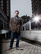Matthew Macfayden, actor photographed in Soho