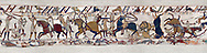 11th Century Medieval Bayeux Tapestry - Scene 53 - The battle of Hastings rages on. Battle of Hastings 1066 .<br /> <br /> If you prefer you can also buy from our ALAMY PHOTO LIBRARY  Collection visit : https://www.alamy.com/portfolio/paul-williams-funkystock/bayeux-tapestry-medieval-art.html  if you know the scene number you want enter BXY followed bt the scene no into the SEARCH WITHIN GALLERY box  i.e BYX 22 for scene 22)<br /> <br />  Visit our MEDIEVAL ART PHOTO COLLECTIONS for more   photos  to download or buy as prints https://funkystock.photoshelter.com/gallery-collection/Medieval-Middle-Ages-Art-Artefacts-Antiquities-Pictures-Images-of/C0000YpKXiAHnG2k