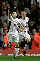 Fotball<br /> England<br /> Foto: Propaganda/Digitalsport<br /> NORWAY ONLY<br /> <br /> Liverpool, England - Monday, April 16, 2007:  Manchester United's Sam Hewson celebrates scores his sides second goal during the FA Youth Cup Final 1st Leg at Anfield.
