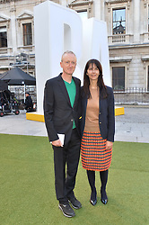 MICHAEL LANDY and GILLIAN WEARING at the annual Royal Academy of Art Summer Party held at Burlington House, Piccadilly, London on 4th June 2014.