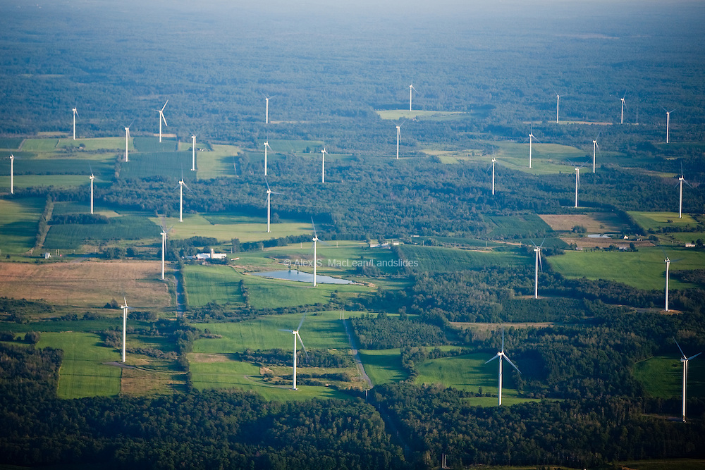 Maple Ridge Wind Farm is the largest wind farm in the state of New York, with 195 Vestas model V82 1.65 MW wind turbines.