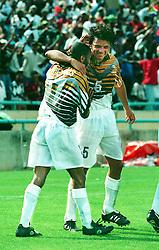 January 13, 1996 - 1996-01-13 Frank Williams och Mark Fish, Sydafrika.© Bildbyran  (Credit Image: © Bildbyran via ZUMA Press)