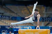 New Zealand's Mikhail Koudinov competes in Mens Artistic Gymnastics, Ariake Gymnastics Centre, Tokyo. Tokyo 2020 Olympic Games. Saturday 24th July 2021. Mandatory credit: © John Cowpland / www.photosport.nz