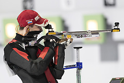 BUENOS AIRES, Oct. 8, 2018  Grigorii Shamakov of Russia competes during the Men's 10m Air Rifle Final at the 2018 Summer Youth Olympic Games in Buenos Aires, capital of Argentina, Oct. 7, 2018.  Grigorii Shamakov won the first gold of the games with 249.2 points. (Credit Image: © Li Ming/Xinhua via ZUMA Wire)