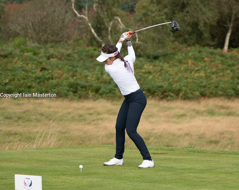 Auchterarder, Scotland, UK. 10 September 2019. Day one of the Junior Solheim Cup 2019 at the Centenary Course at Gleneagles. Tuesday Morning Foursomes. Pictured Iain Masterton/Alamy Live News