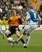 Photo: Ed Godden.<br />Wolverhampton Wanderers v Sheffield Wednesday. Coca Cola Championship. 25/03/2006. Wolves' Maurice Ross (L) and Burton O'Brien (R)
