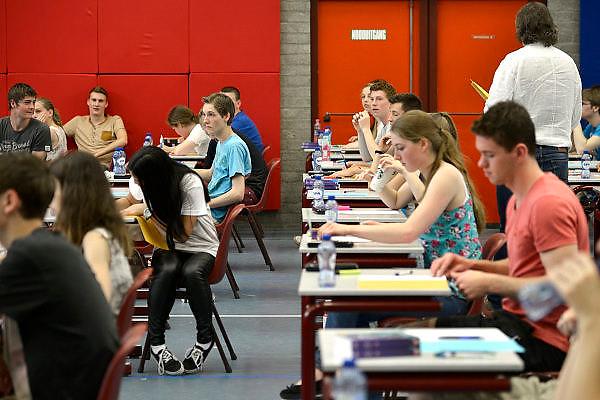 Nederland, Nijmegen, 20-5-2014Eindexamen bij het Kandinsky college.Foto: Flip Franssen/Hollandse Hoogte