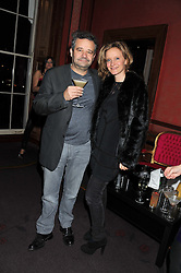 MARK HIX and LARA CAZALET at the 39th birthday party for Nick Candy in association with Ciroc Vodka held at 5 Cavindish Square, London on 21st Januatu 2012.
